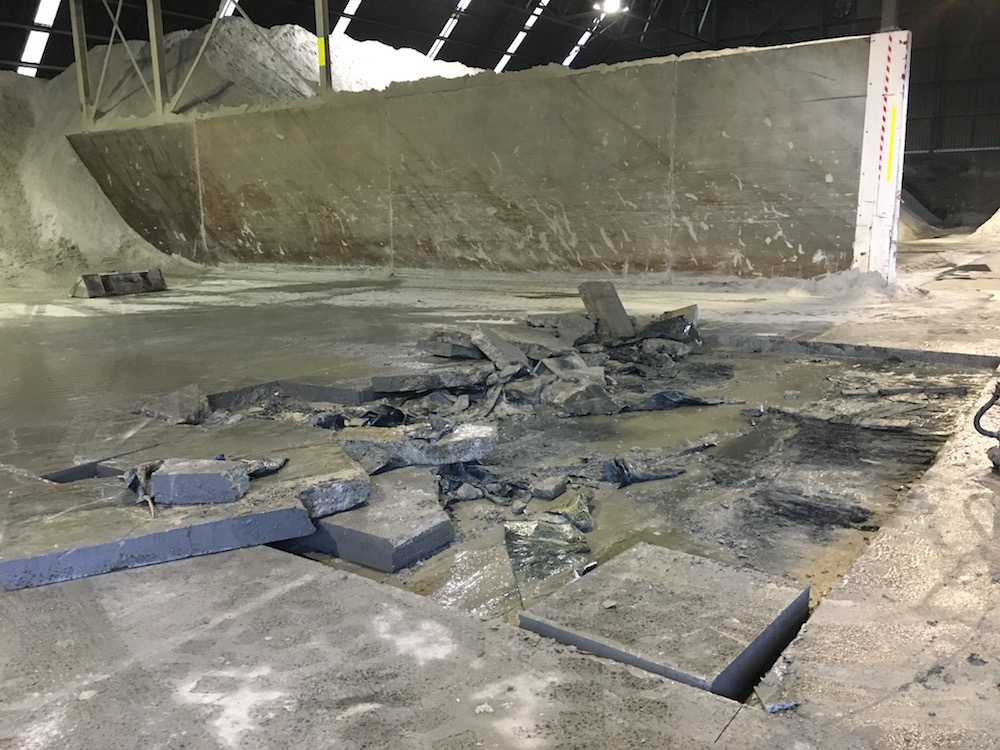 Bunbury Port Shed Slab Replacement Protective Coating